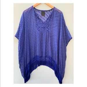 Anthropologie Tunic Top - Anna Sui Fringed Blouse